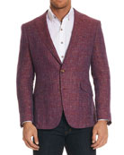 Jeremy Multicolor Tweed Two-Button Jacket
