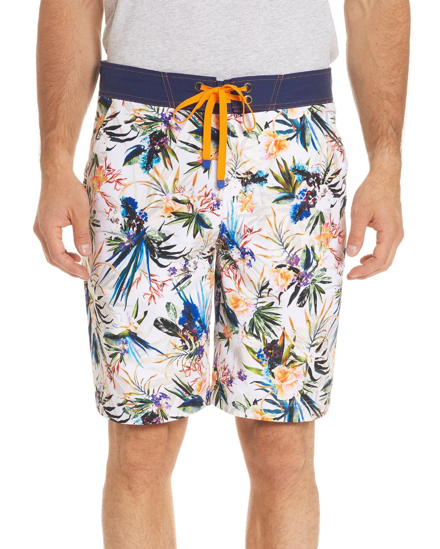Rumba FloralPrint Swim Trunks