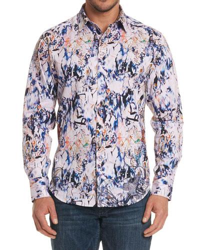 Jardin Artful-Print Sport Shirt