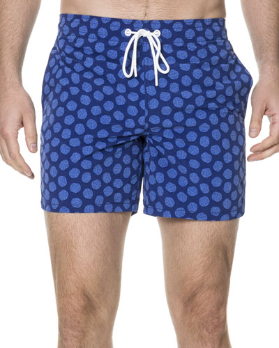 Nicholson Medallion-Print Swim Trunks