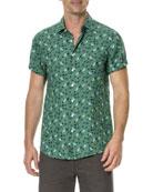 Canoe Creek Floral-Print Short-Sleeve Sport Shirt