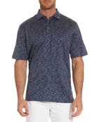 Raul Illusion-Pattern Polo Shirt