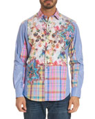 Limited Edition Be Frank Patched Sport Shirt