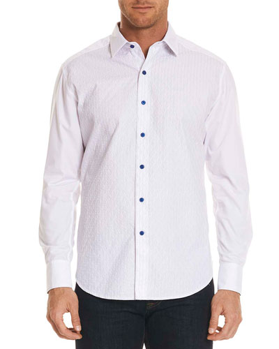 Dominic Contrast-Button Sport Shirt
