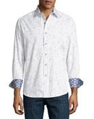 De La Cruz Floral-Print Cotton Sport Shirt