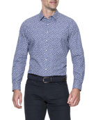 Marshland Sports-Fit Floral Sport Shirt