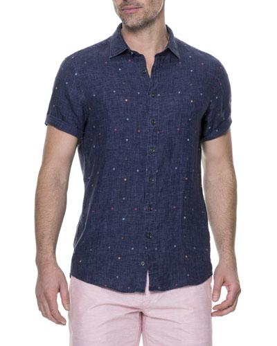 Renforth Linen-Blend Sport Shirt