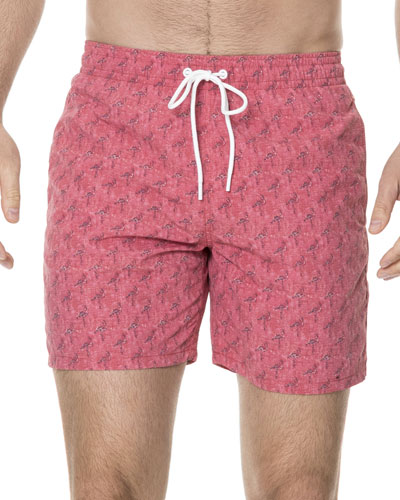 Dryden Flamingoes Swim Trunks