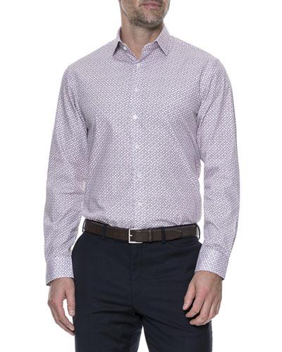 Market Cross Sports-Fit Floral Sport Shirt