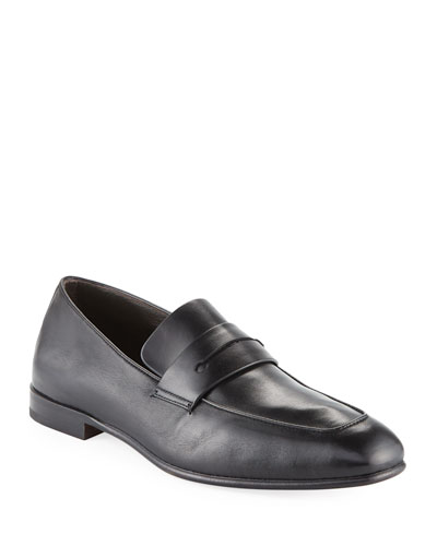 Lasola Soft Napa Leather Penny Loafers