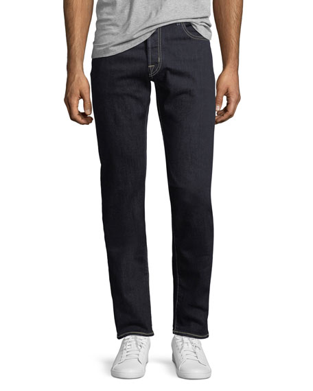 Jacob Cohen Straight-Leg Stretch-Denim Jeans with Contrast Stitching