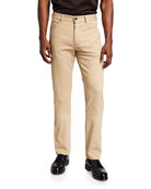 Men's Cotton Canvas Straight-Leg Pants