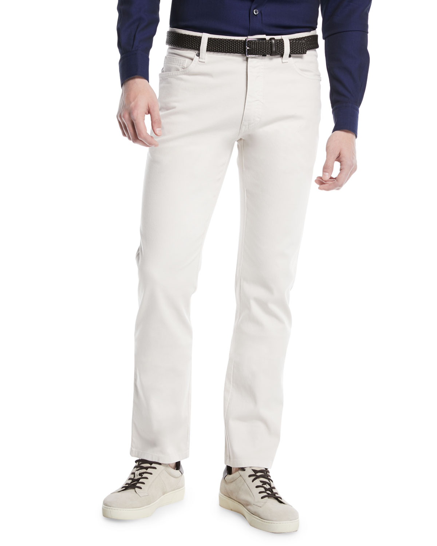 Cotton Canvas Regular-Fit Chino Pants