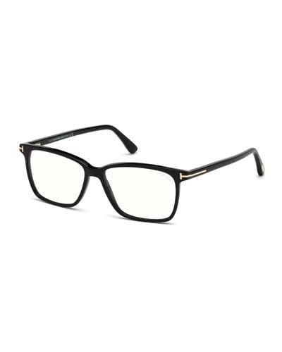 Square Acetate Optical Glasses, Black