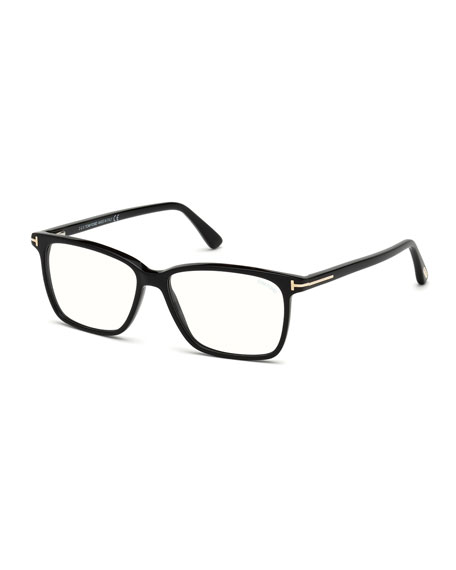 TOM FORD Square Acetate Optical Glasses, Black