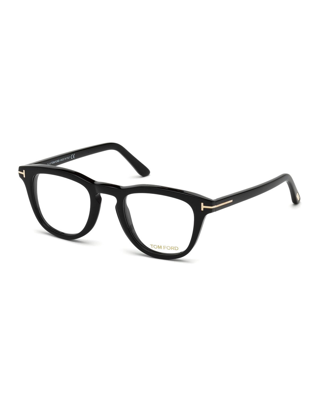 49Mm Round Optical Glasses - Black