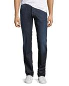 Lightweight Dark-Wash Straight-Leg Jeans