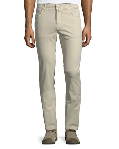 Flat-Front Stretch Chino Pants