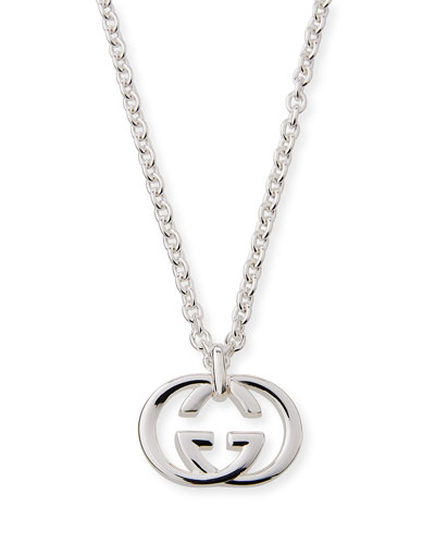 Men's Britt Interlocking GG Pendant Necklace