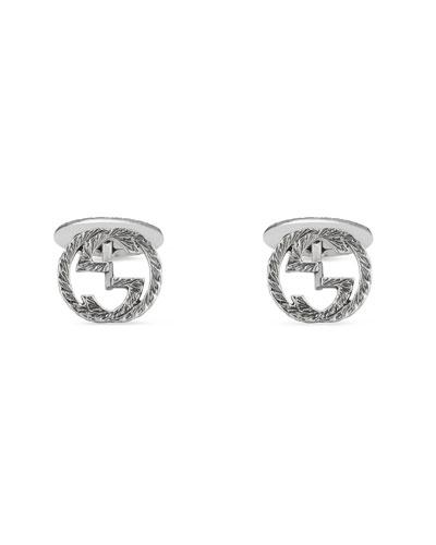 Sterling Silver Interlocking-G Cuff Links