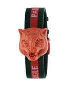 Secret Feline Web-Strap Watch