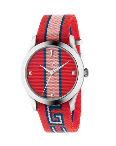 Nylon Web Watch with Logo Embroidery