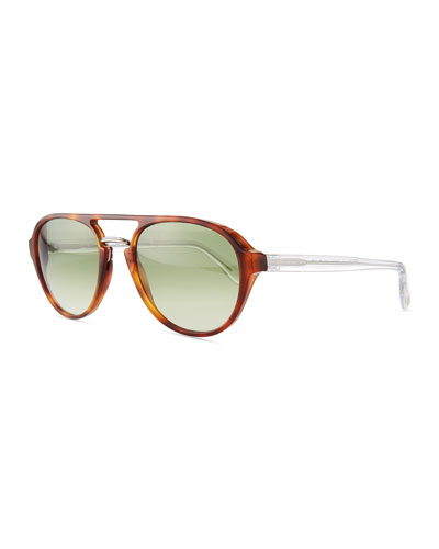 The Discovery Polarized Acetate Aviator Sunglasses