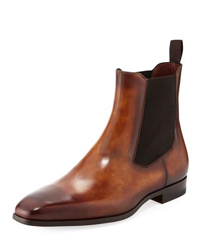 Men's Calfskin Leather Chelsea Boot