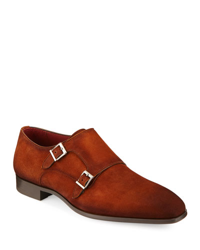 Men's Suede Double-Monk Shoe