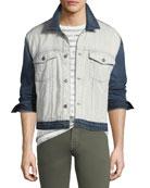 Men's Inside-Out Denim Trucker Jacket