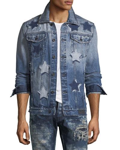 Star Patched Denim Jacket