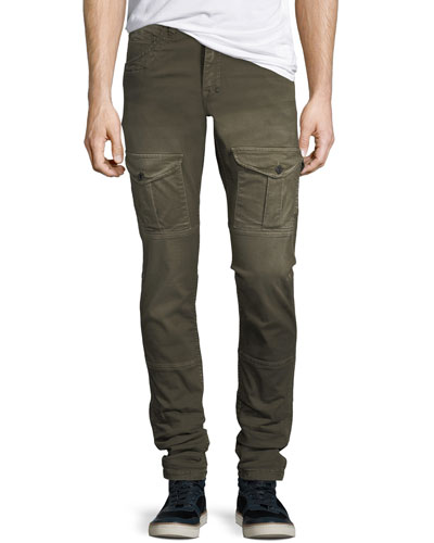 Washed-Twill Cargo Pants