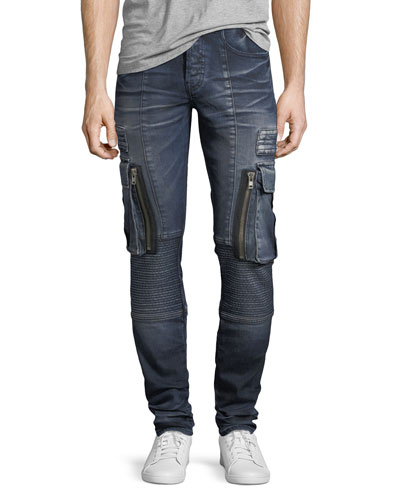 Skinny Moto Cargo Jeans