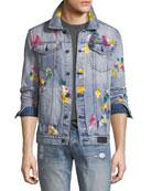 Multicolored Painted Denim Jacket