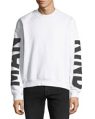 Men's Puff-Print Crewneck Sweatshirt