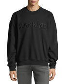 Men's Typographic Embroidered Sweatshirt, Black
