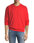 Men's Typographic Embroidered Sweatshirt, Red