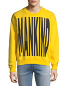 Men's Typographic Embroidered Sweatshirt, Yellow