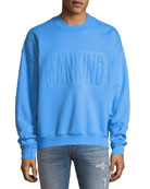 Embossed Crewneck Sweatshirt