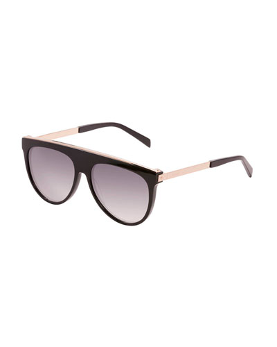 Flat-Top Aviator Sunglasses