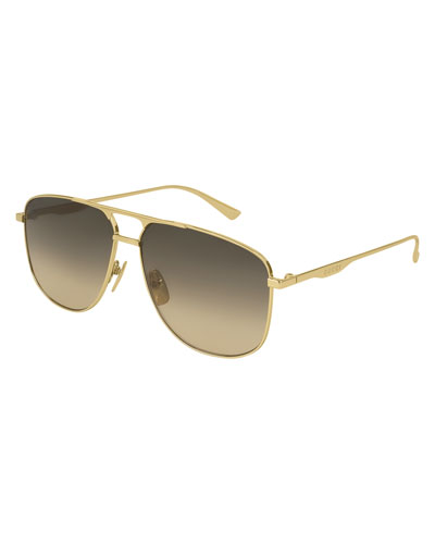 Metal Pilot Sunglasses, Gold