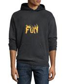 Men's Fun Graphic Cotton Hoodie