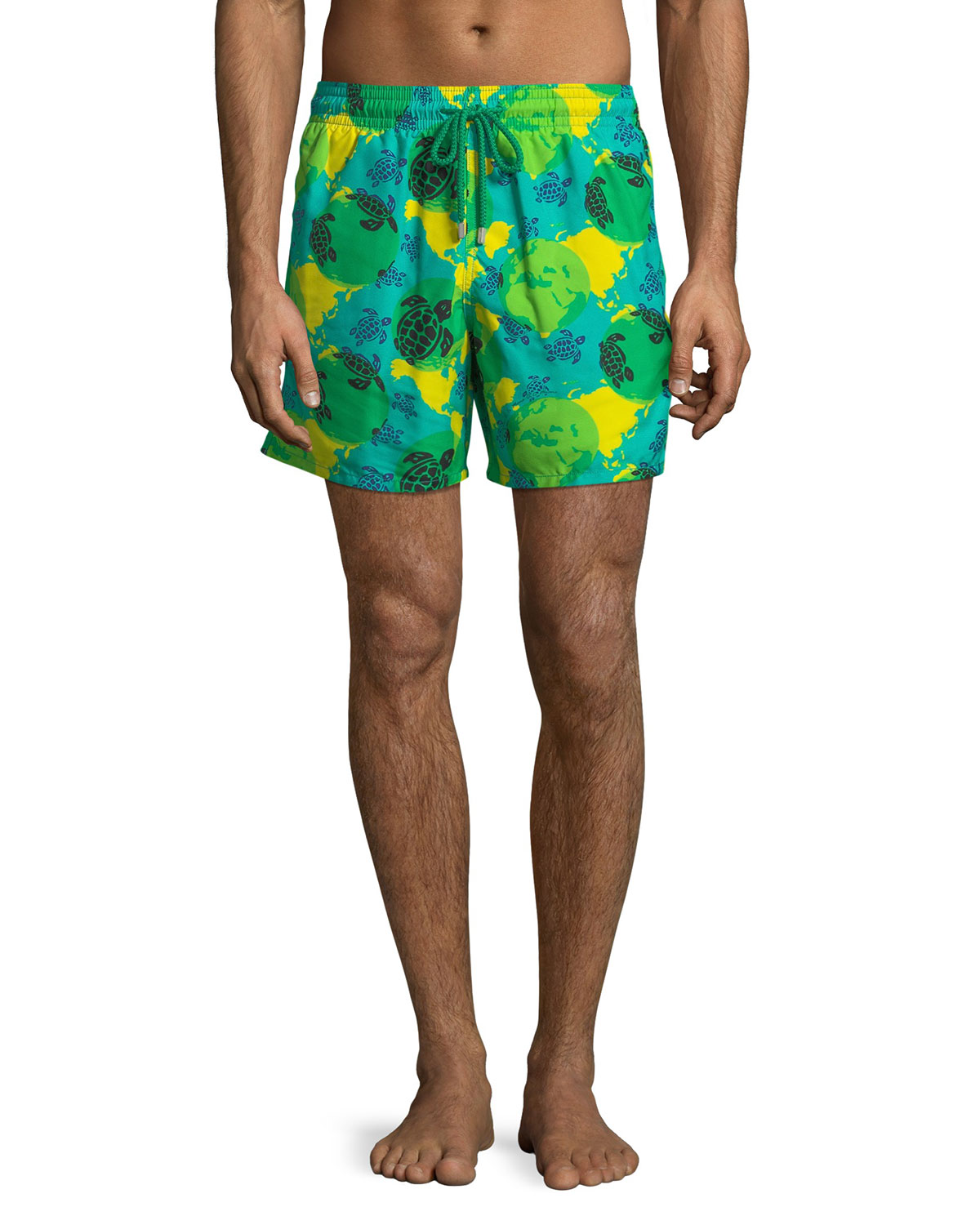Moorea World Map  Turtles Swim Trunks
