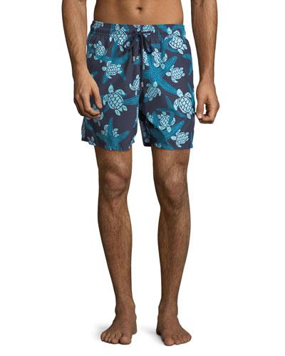 Moorea Turtle & Starfish Swim Trunks