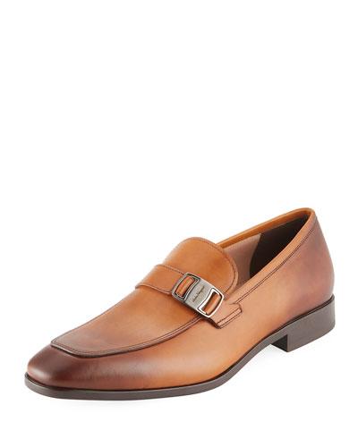 Benson Burnished Leather Loafer