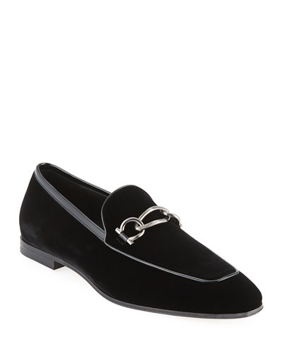95c04d25479 Quick Look. Salvatore Ferragamo · Men s Boy 2 Chain Detail Velvet Loafer.  Available in Black