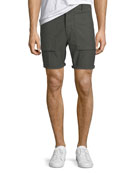Kontact Military-Inspired Twill Shorts
