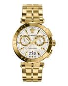 Aion Chronograph Bracelet Watch, White