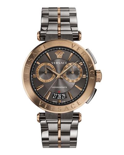 Aion Chronograph Bracelet Watch, Silver