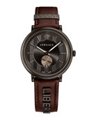 42mm Manifesto Watch with Brown LIBERTY Leather Strap